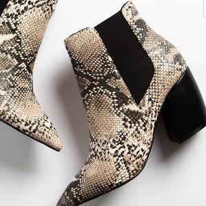 Shoes - 🚨SALE//The Miya// Snake print beige Bootie